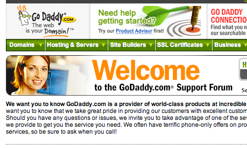 Godaddy Headset Hottie